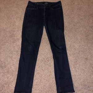 LOFT Curvy Straight Dark Wash Jeans